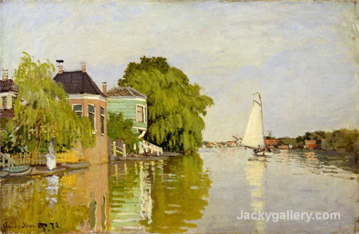 Houses on the Achterzaan by Claude Monet paintings reproduction