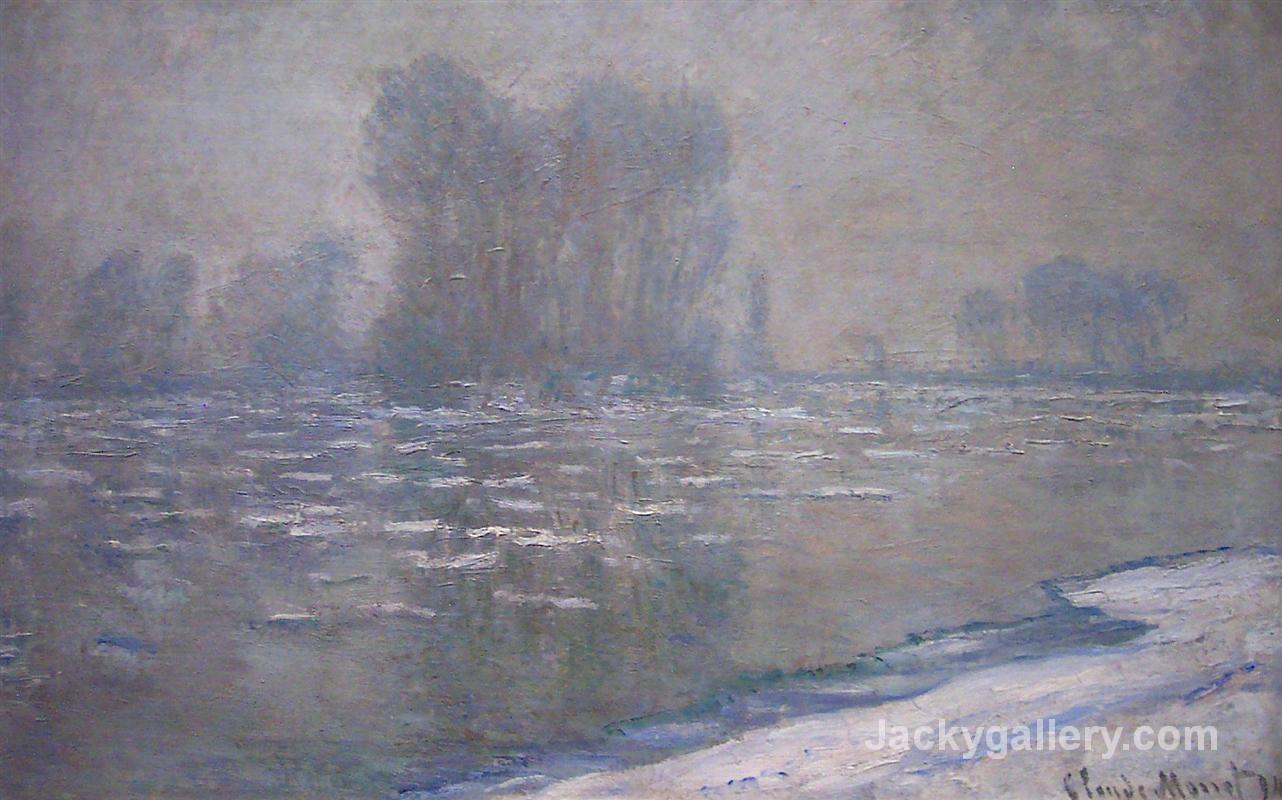 Ice Floes, Misty Morning by Claude Monet paintings reproduction
