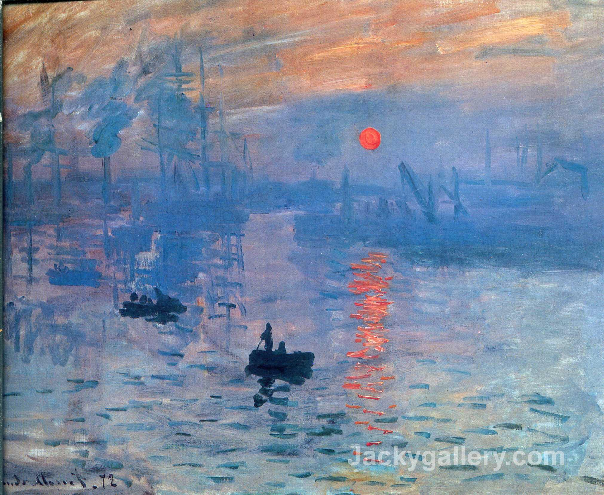 Impression, sunrise by Claude Monet paintings reproduction