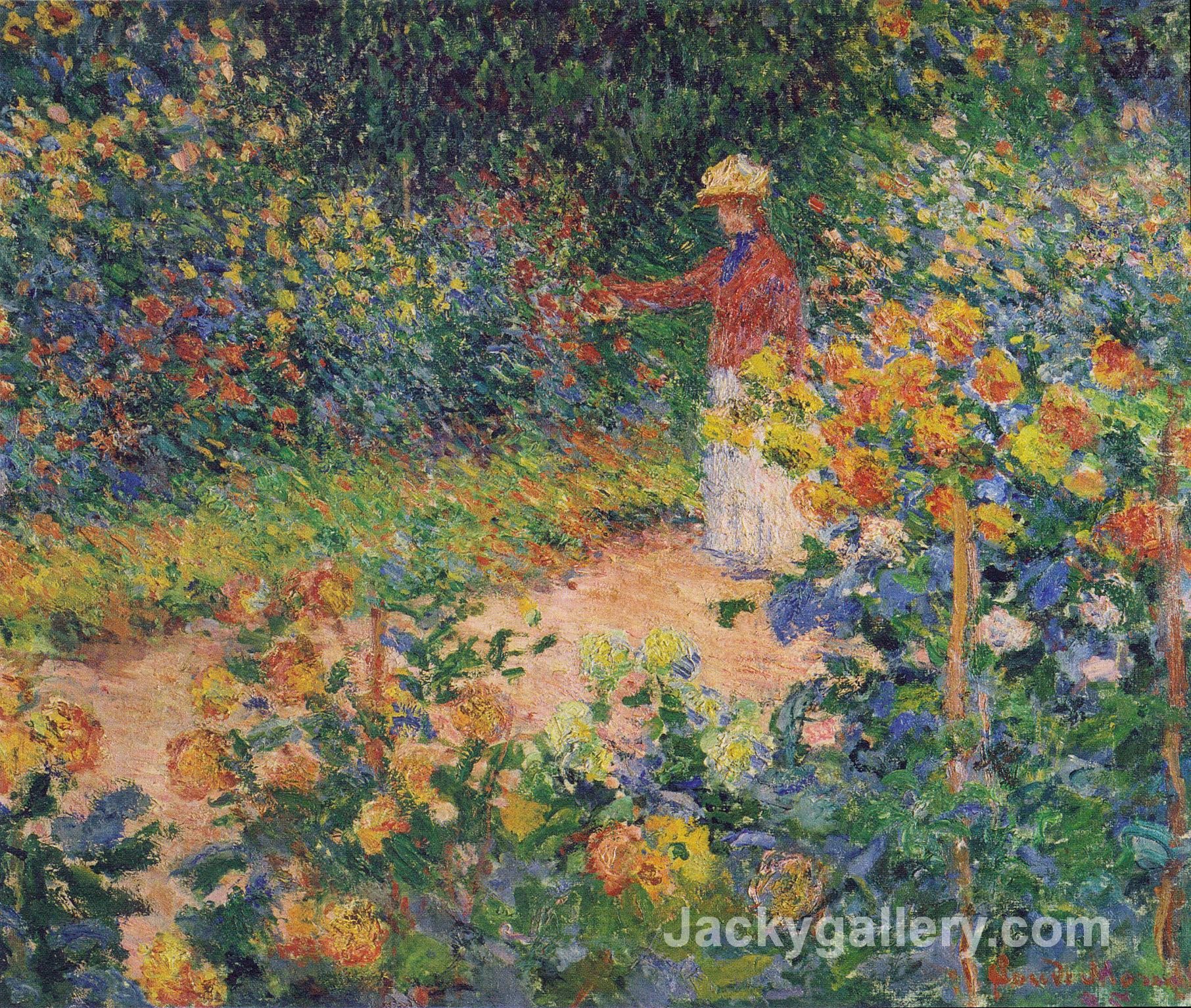 In The Garden by Claude Monet paintings reproduction