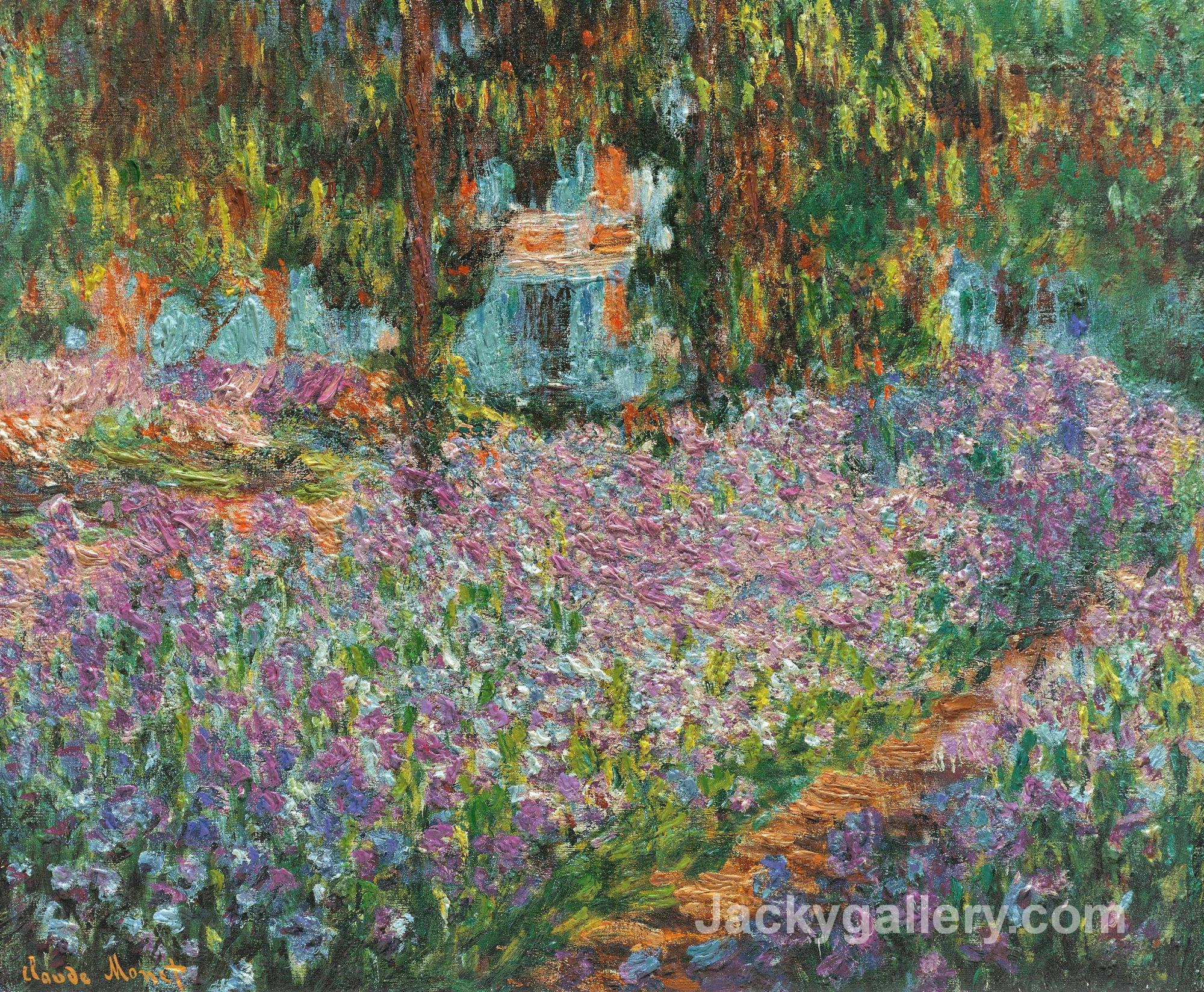 Irises in Monets Garden by Claude Monet paintings reproduction