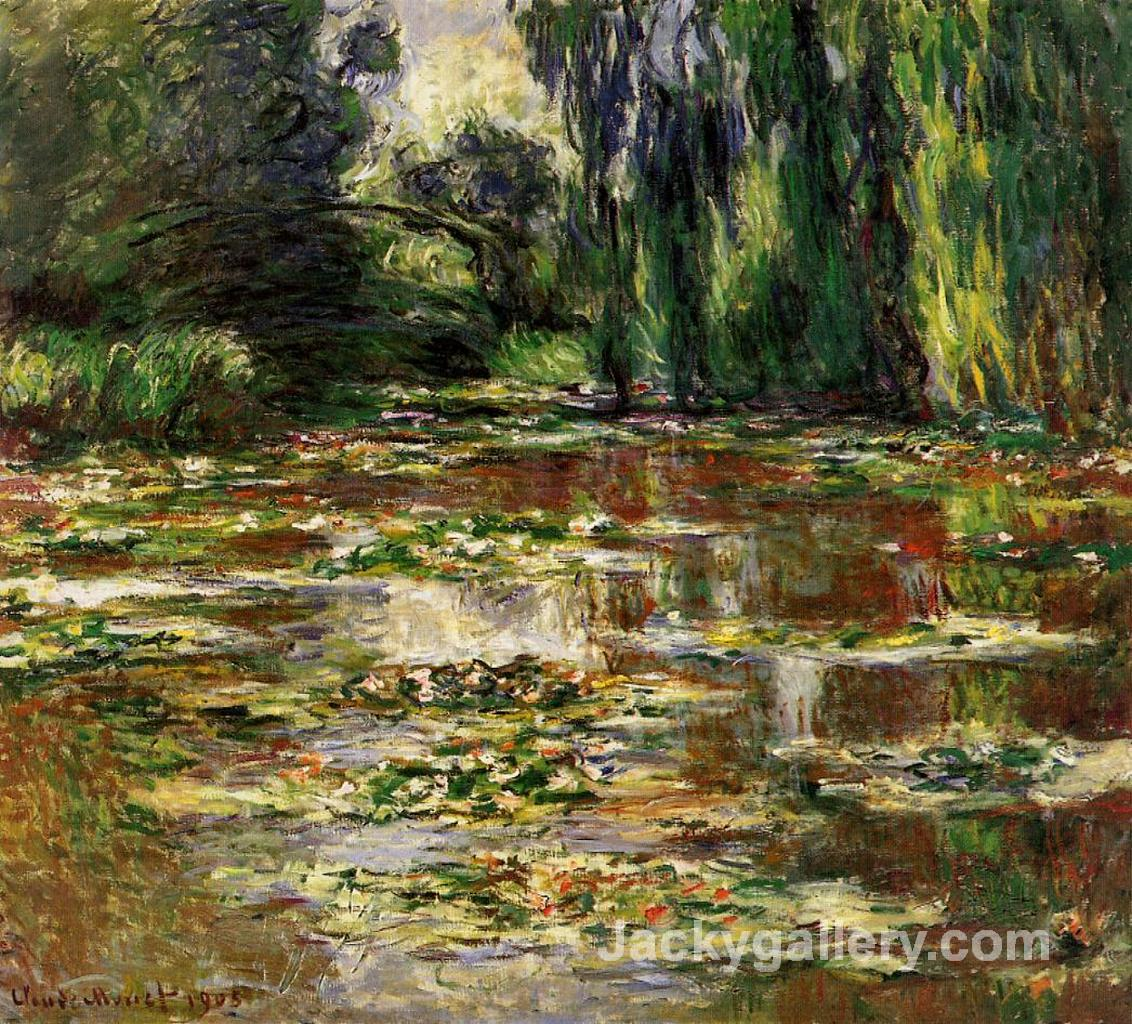 Japanese Bridge,Water Lilies by Claude Monet paintings reproduction