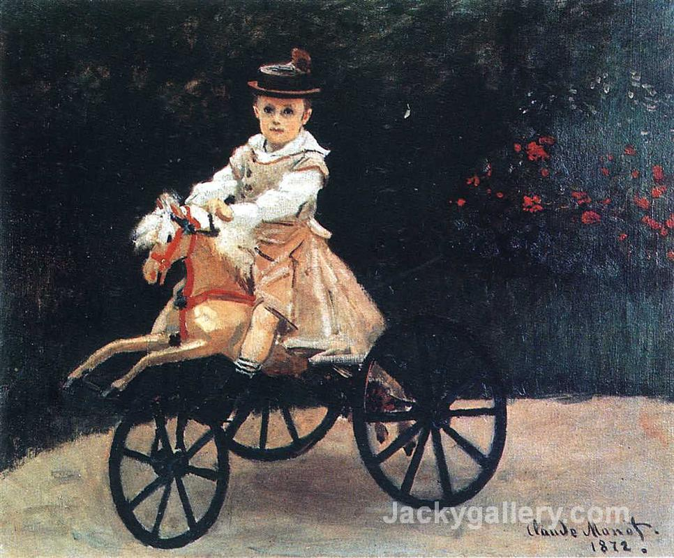 Jean Monet on a Mechanical Horse by Claude Monet paintings reproduction