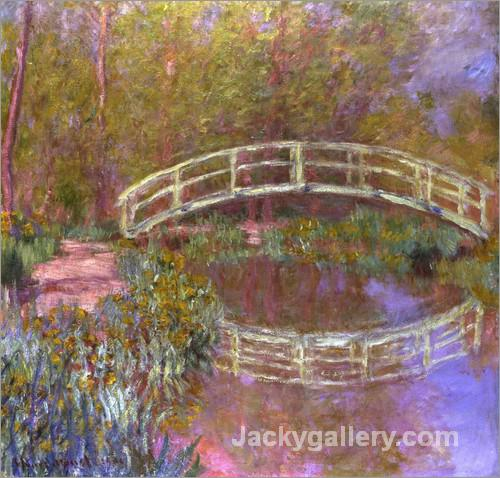 Le Pont Japonais Dans Le Jardin by Claude Monet paintings reproduction
