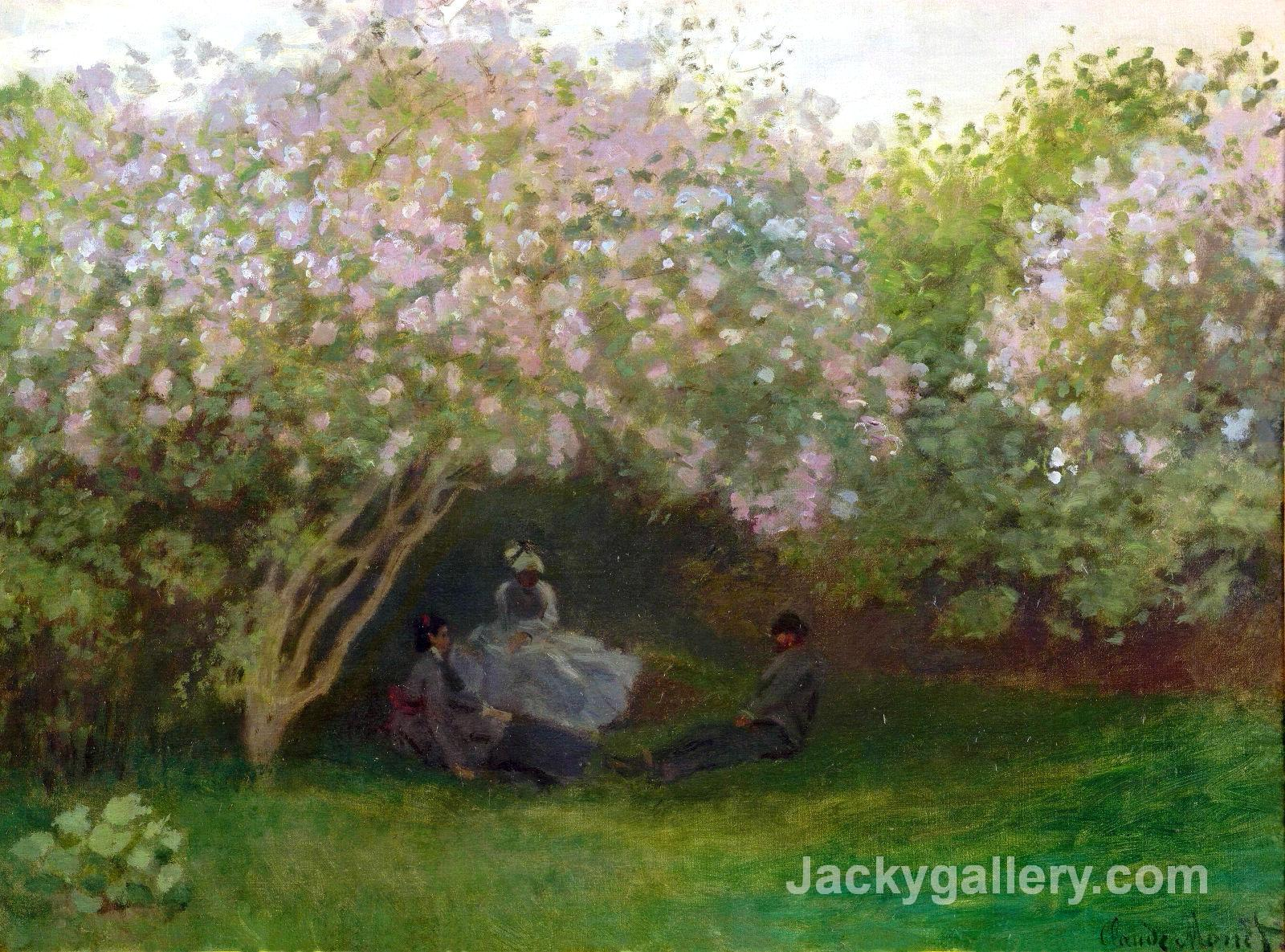 Lilacs, Grey Weather by Claude Monet paintings reproduction
