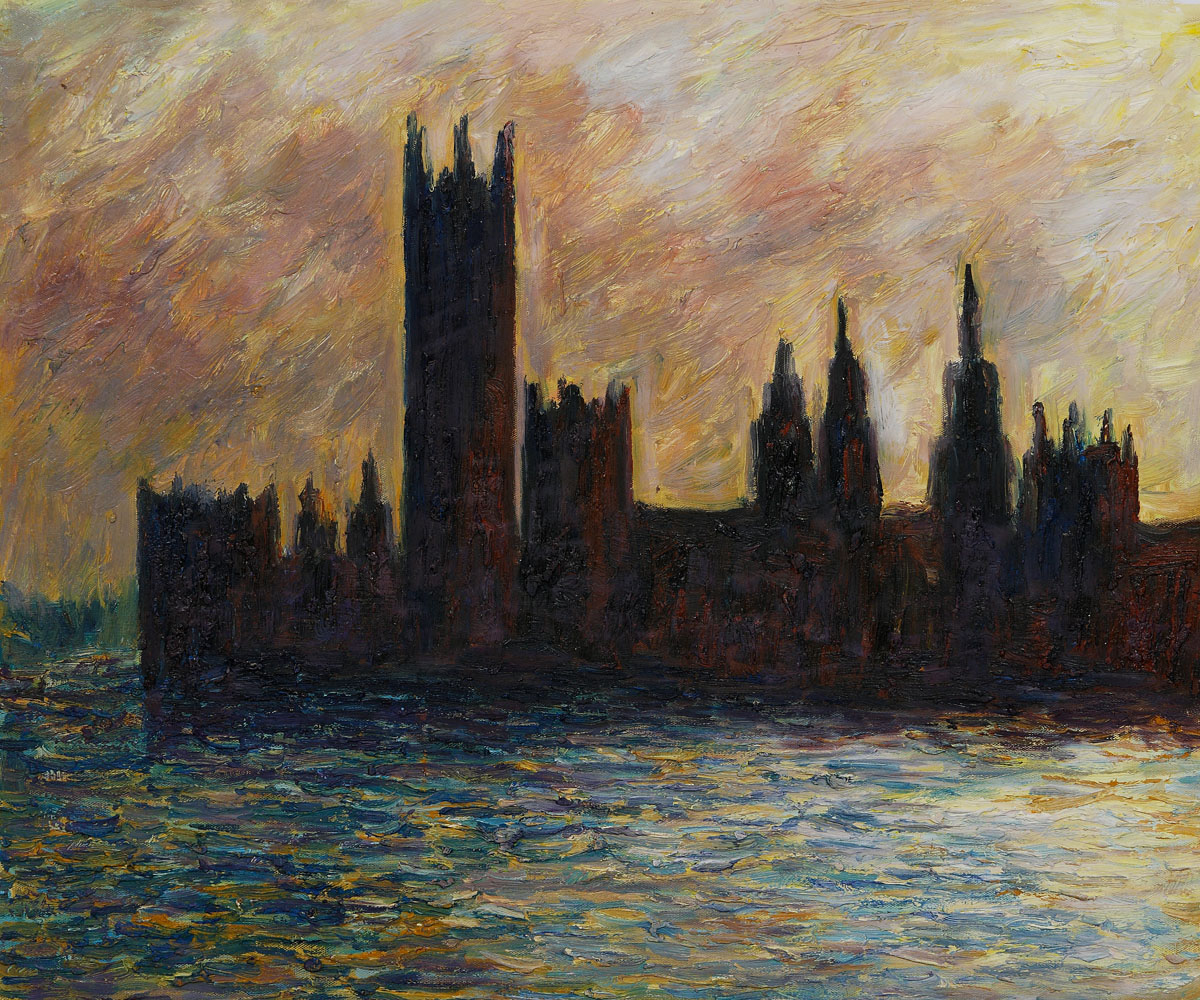 London. Houses of Parliament (Sun Breaking through the Fog) by Claude Monet