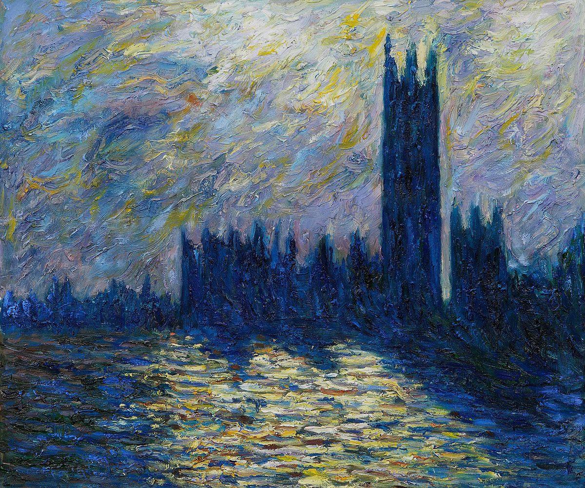 London. The Houses of Parliament (1905) by Claude Monet