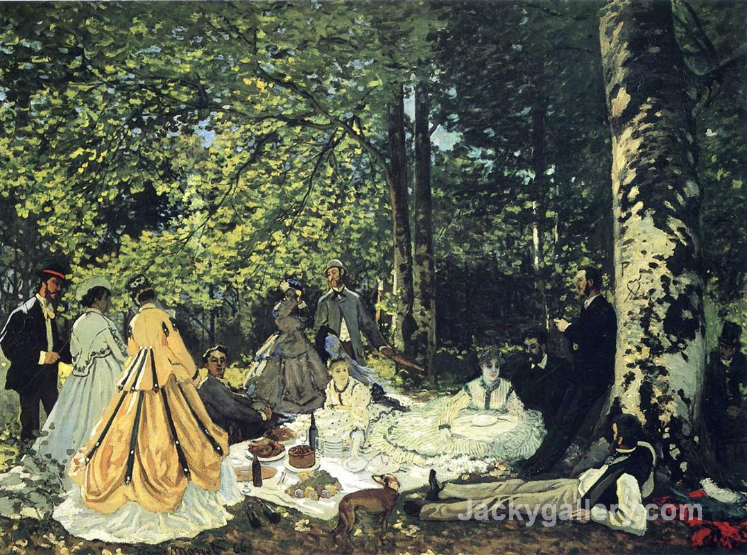 Lunch on the Grass by Claude Monet paintings reproduction