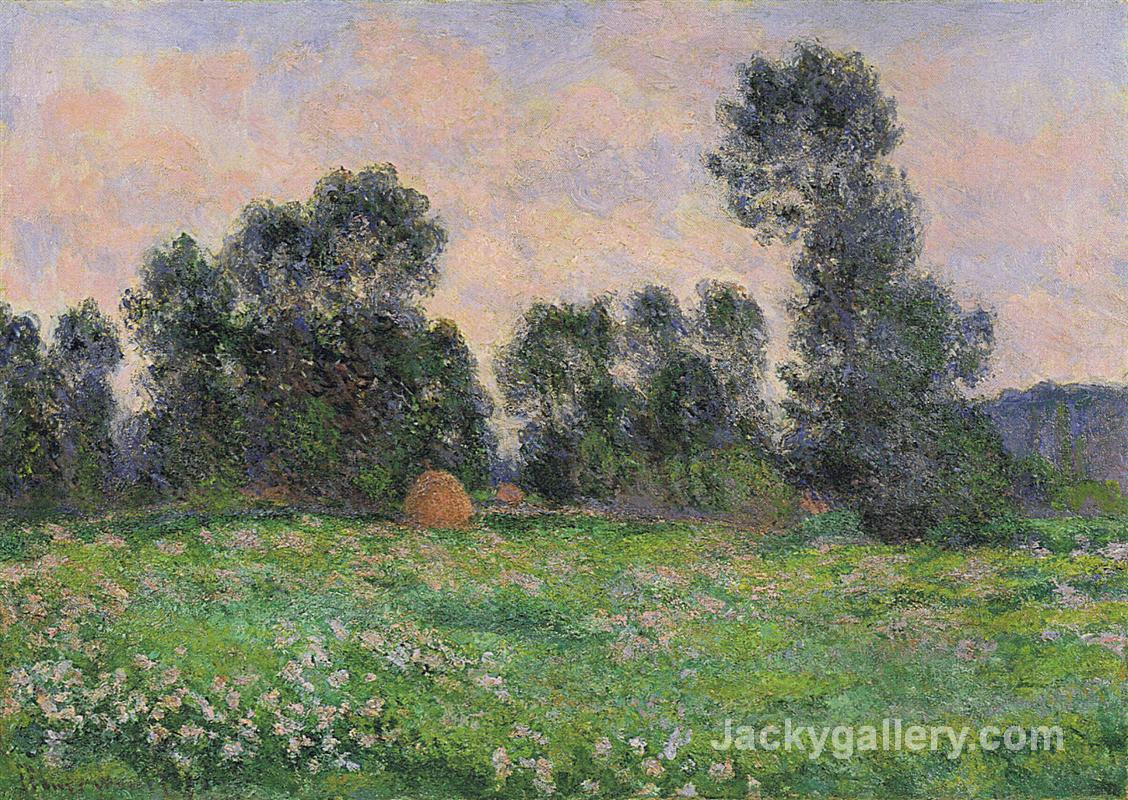 Meadow in Giverny by Claude Monet paintings reproduction