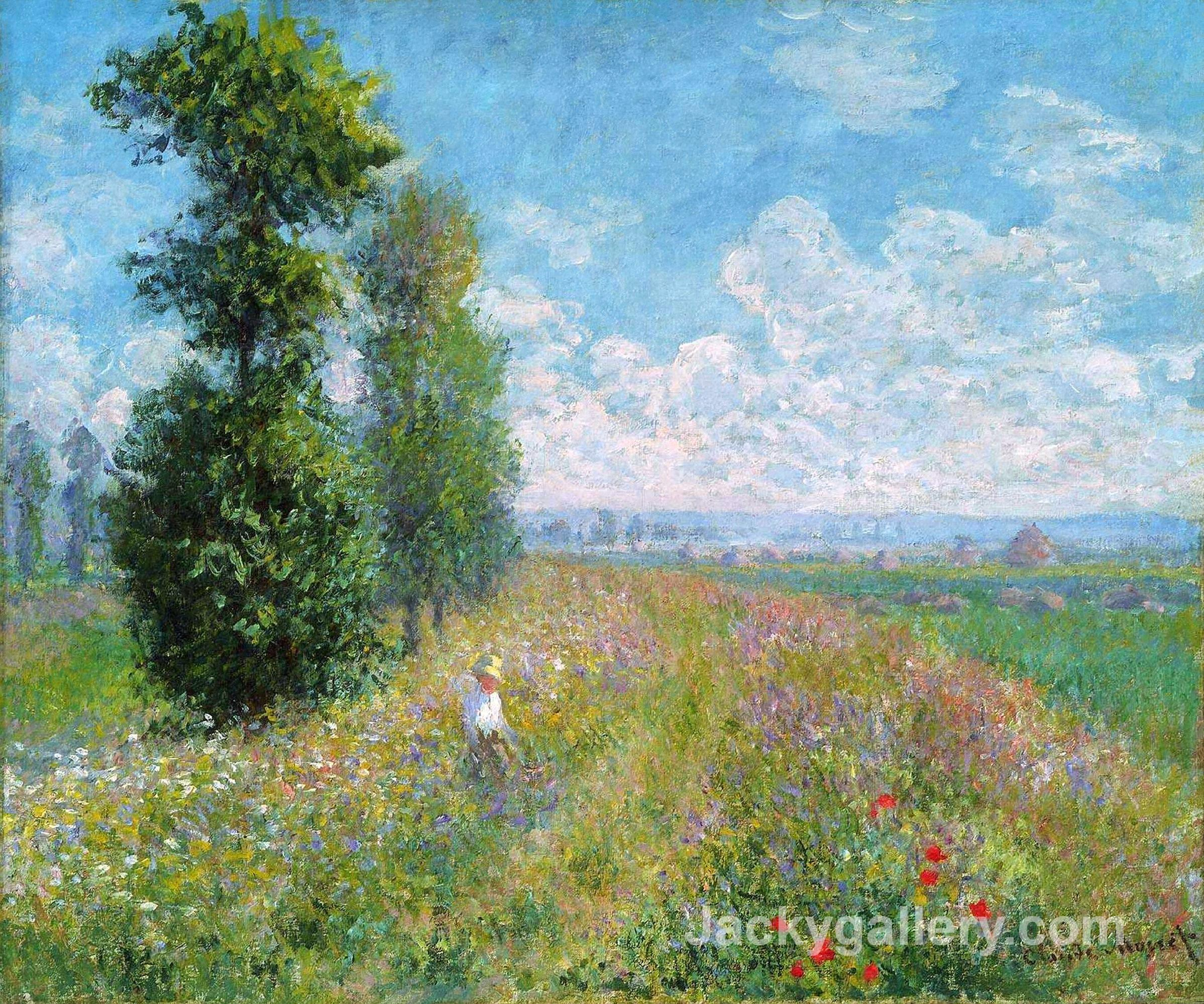 Meadow with Poplars by Claude Monet paintings reproduction