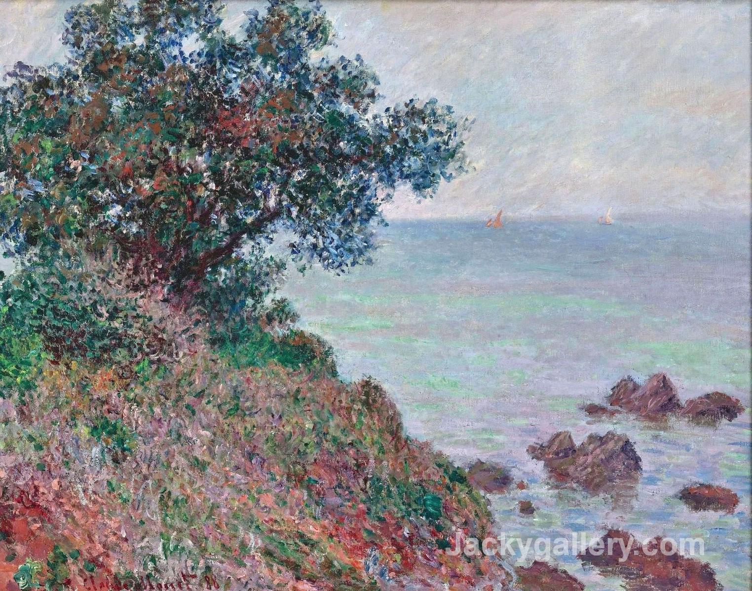 Mediteranian Coast, Grey Day by Claude Monet paintings reproduction