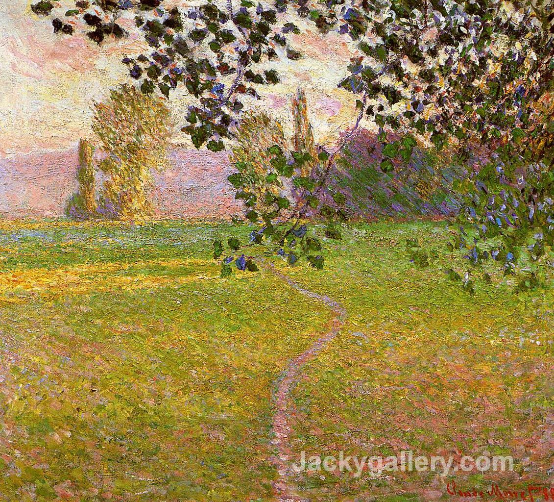 Morning Landscape, Giverny by Claude Monet paintings reproduction