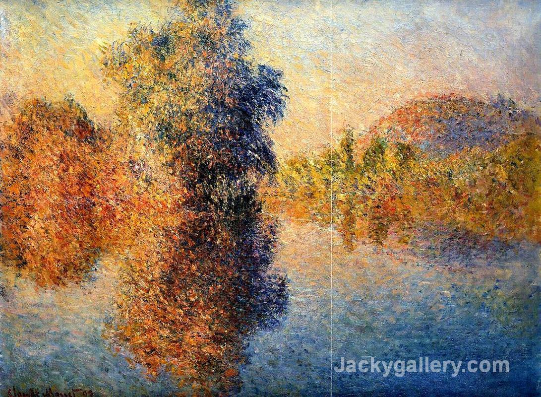 Morning on the Seine by Claude Monet paintings reproduction