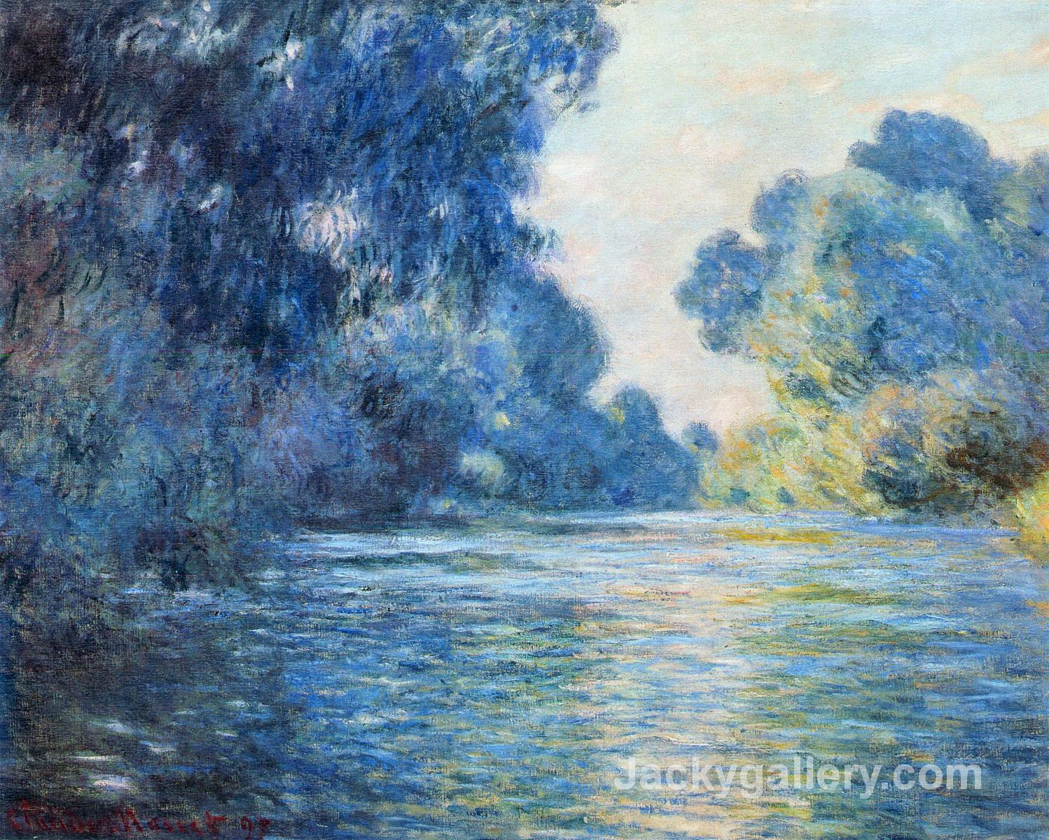 Morning on the Seine at Giverny II by Claude Monet paintings reproduction