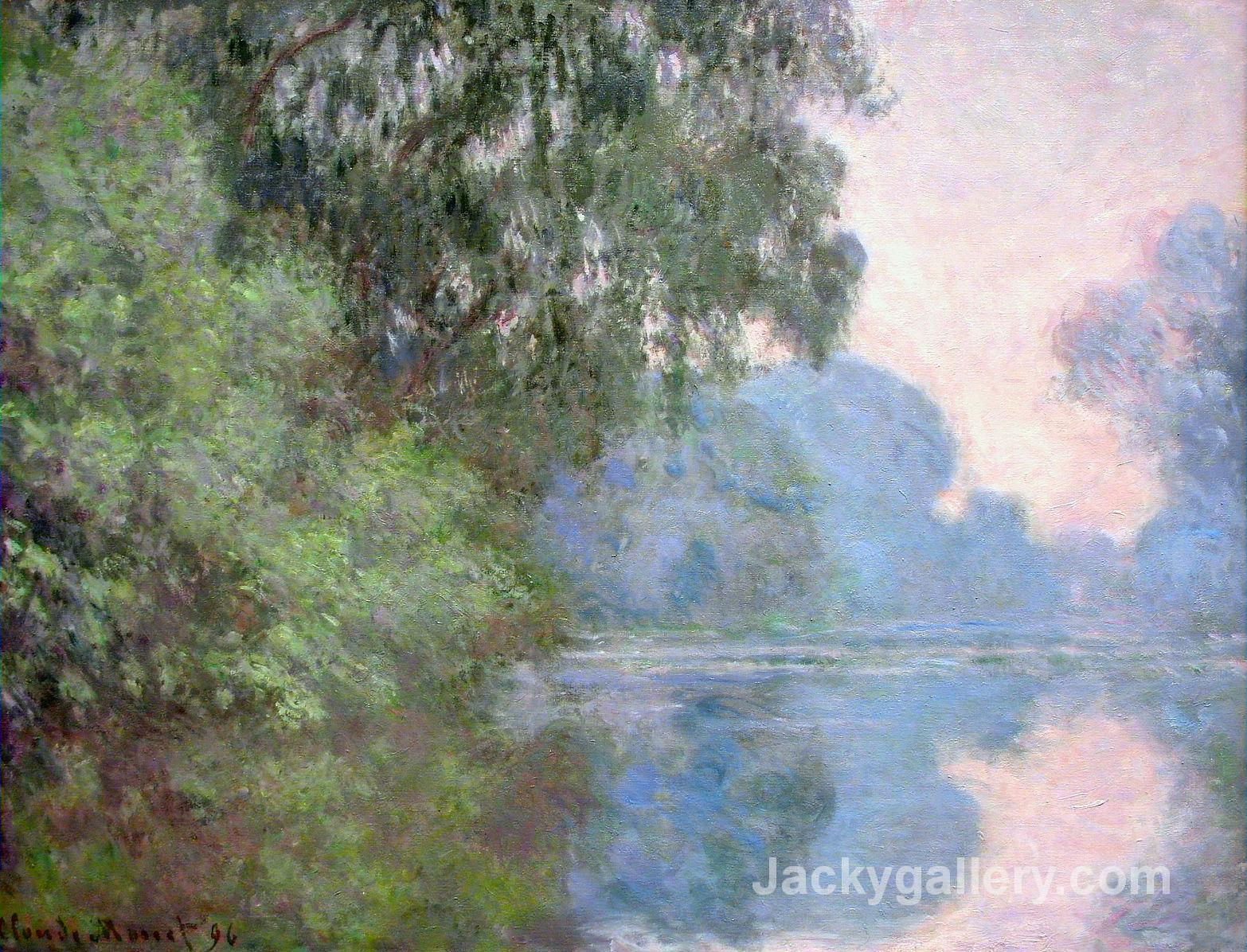Morning on the Seine near Giverny by Claude Monet paintings reproduction