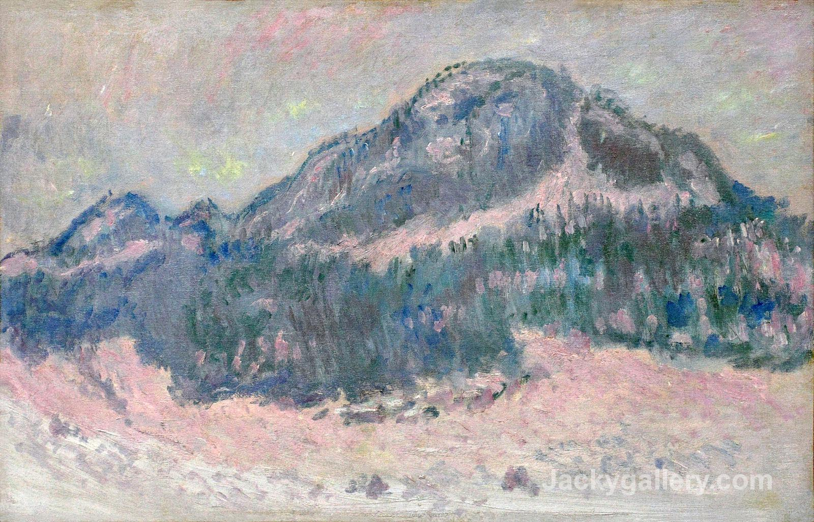 Mount Kolsaas, Rose Reflection by Claude Monet paintings reproduction