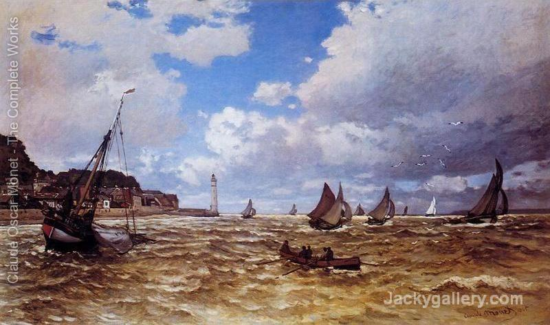 Mouth Of The Seine At Honfleur by Claude Monet paintings reproduction
