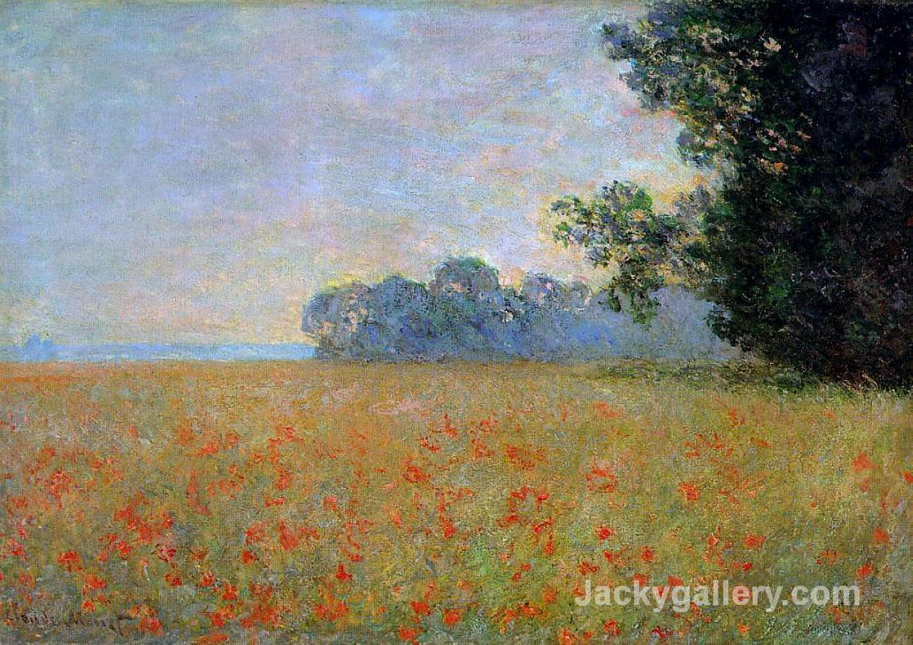 Oat and Poppy Field by Claude Monet paintings reproduction