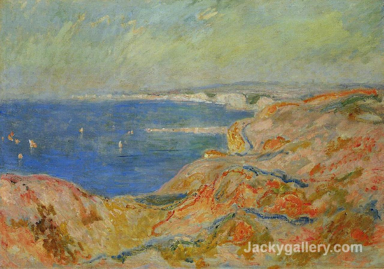 On the Cliff near Dieppe by Claude Monet paintings reproduction