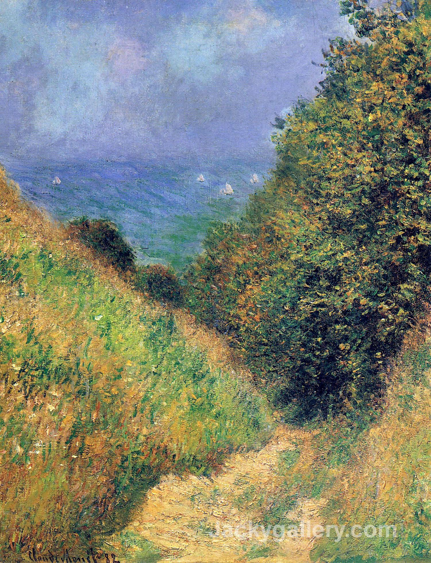 Path at Pourville 02 by Claude Monet paintings reproduction
