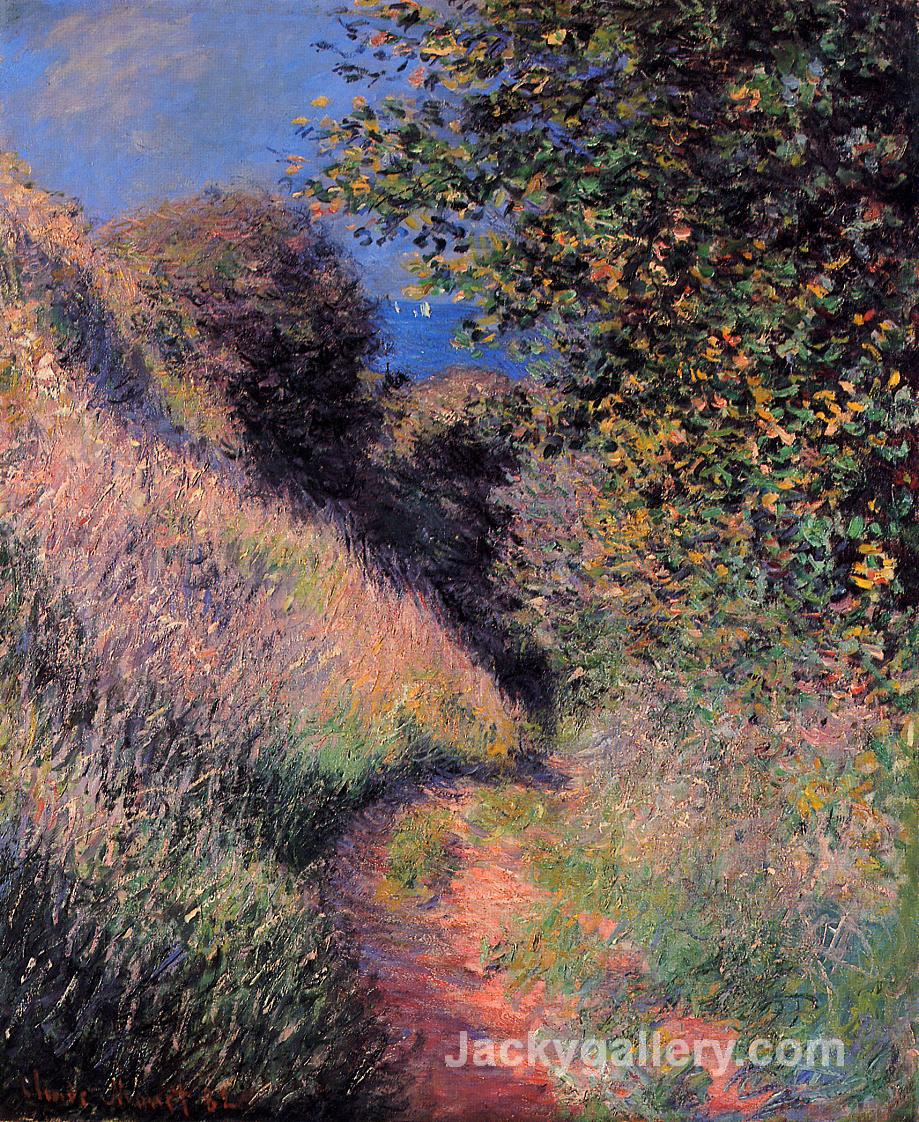 Path at Pourville by Claude Monet paintings reproduction