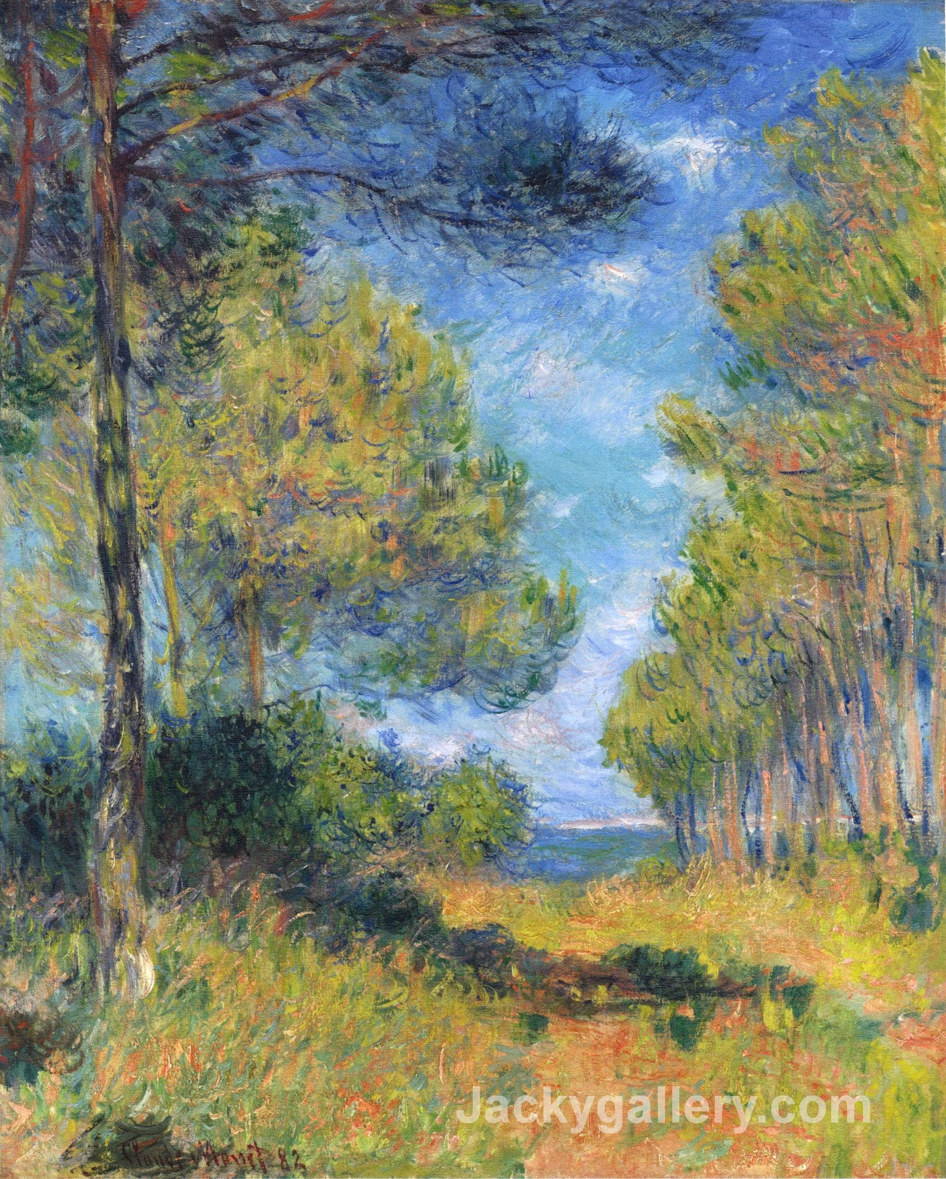 Path at Varengeville by Claude Monet paintings reproduction