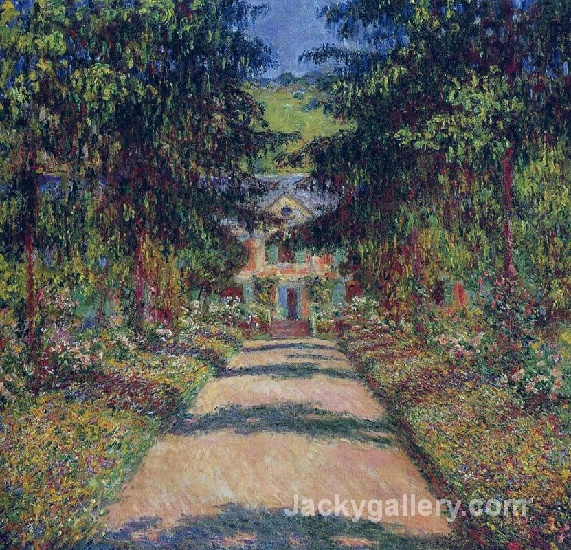 Pathway in Monets Garden at Giverny II by Claude Monet paintings reproduction