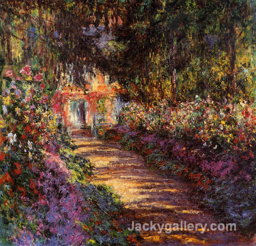 Pathway in Monets Garden at Giverny by Claude Monet paintings reproduction