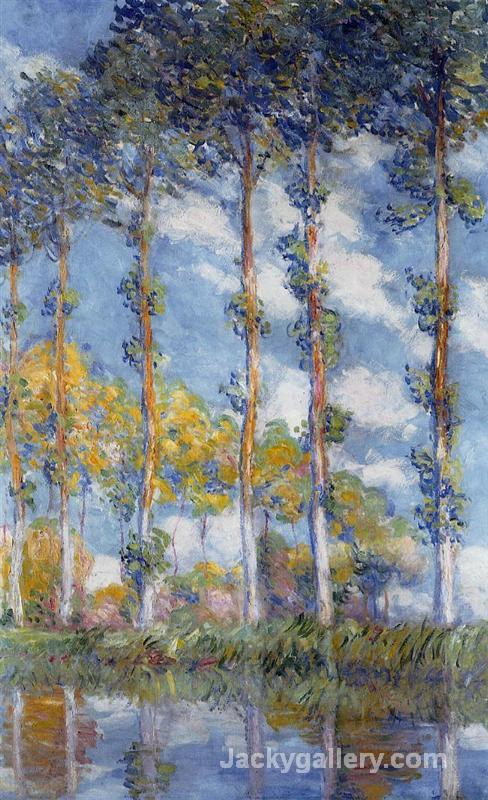 Poplars by Claude Monet paintings reproduction