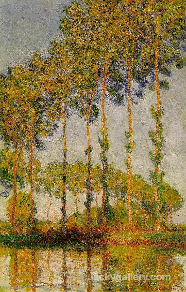 Poplars, Row in Autumn by Claude Monet paintings reproduction