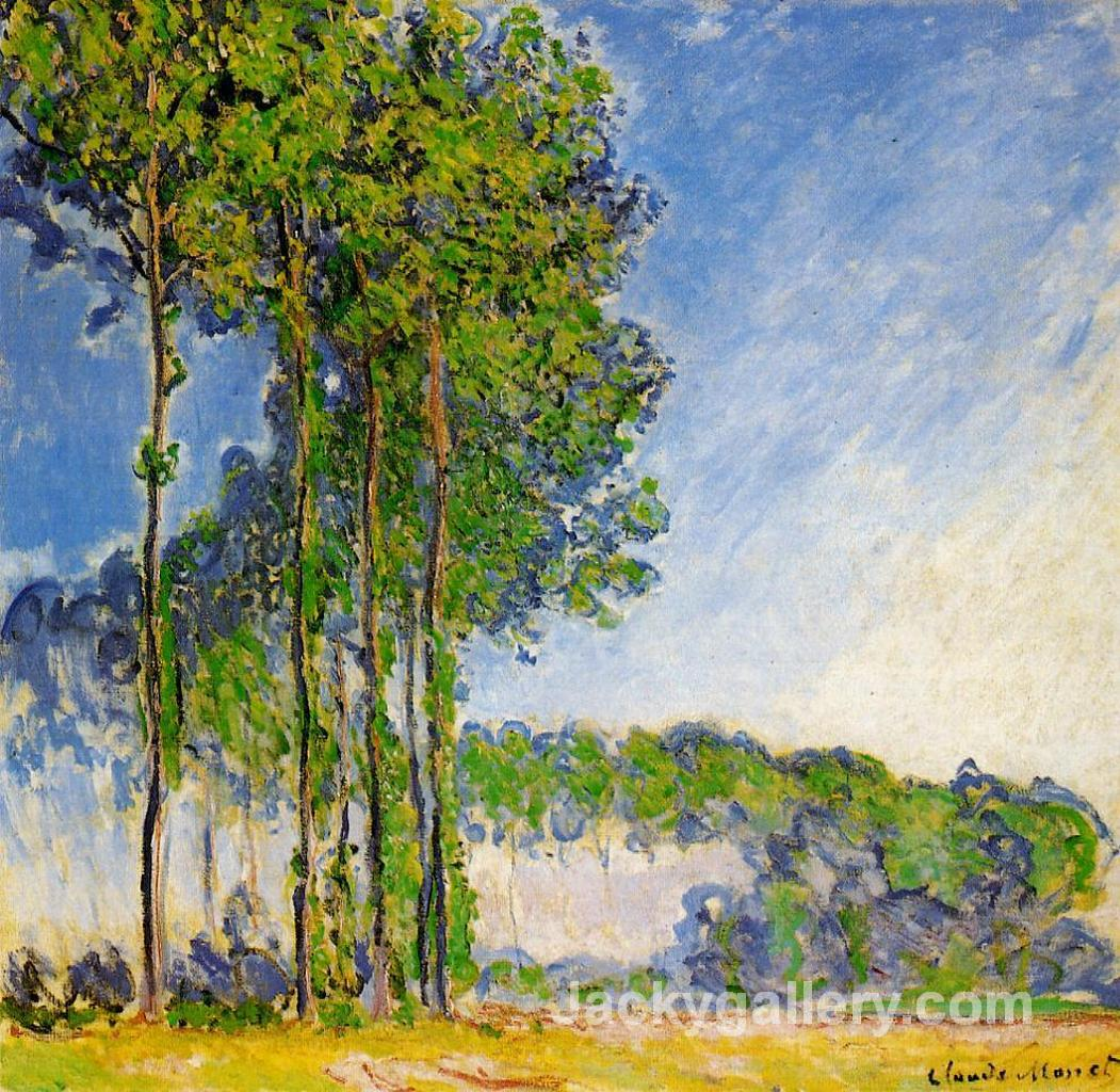 Poplars, View from the Marsh by Claude Monet paintings reproduction
