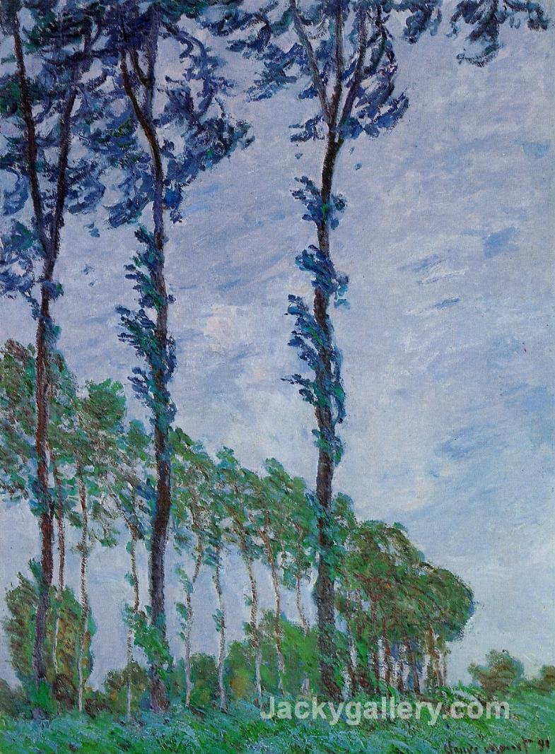 Poplars, Wind Effect by Claude Monet paintings reproduction