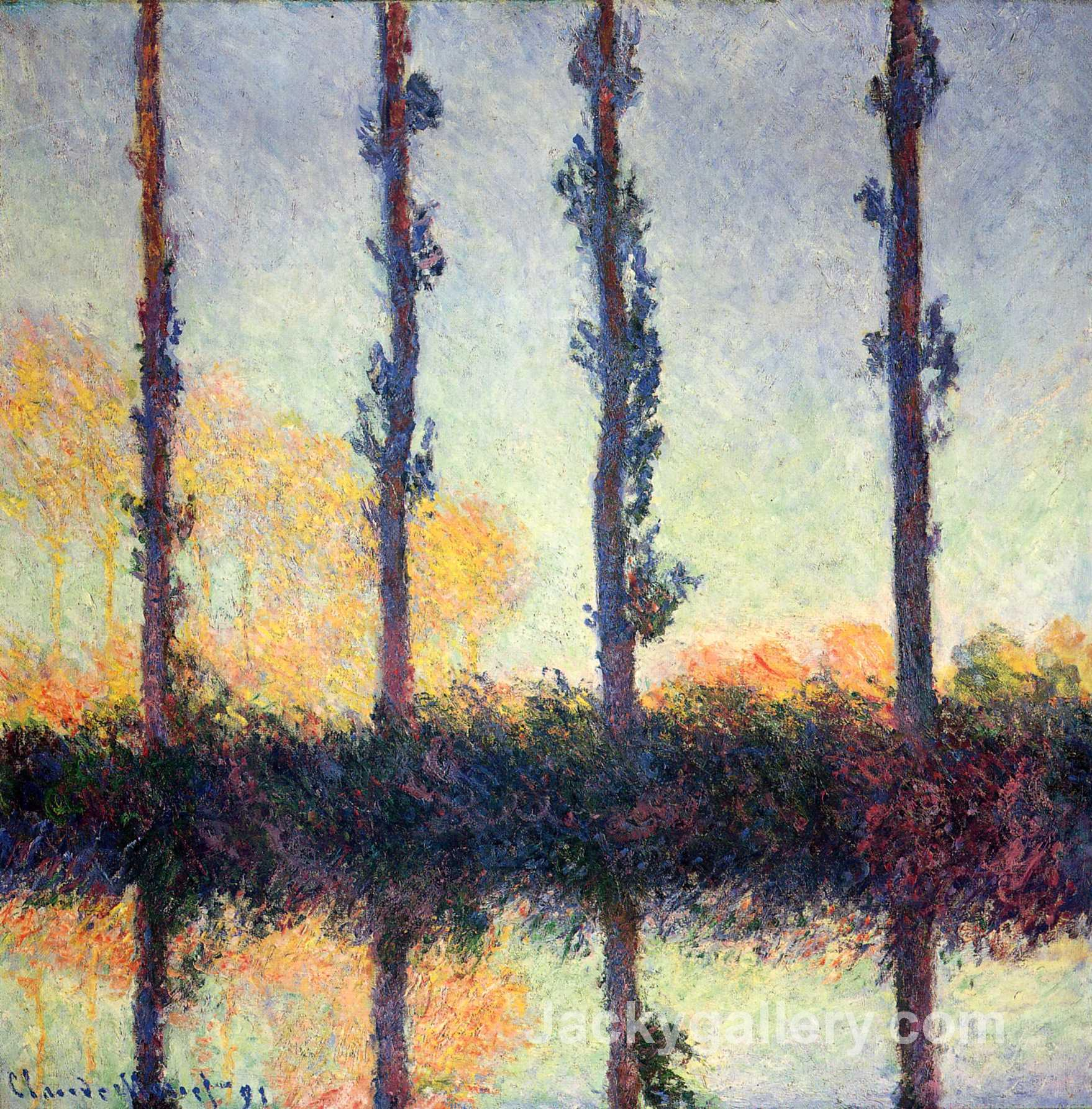 Poplars (Four Trees) by Claude Monet paintings reproduction