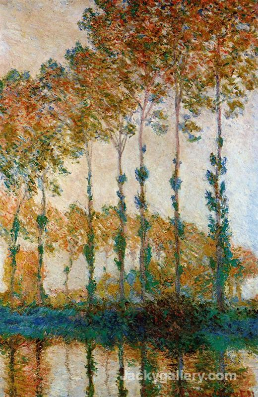 Poplars on the Banks of the Epte, Autumn by Claude Monet paintings reproduction