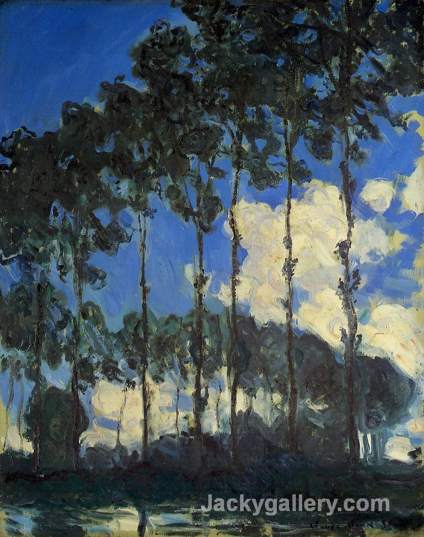 Poplars on the Banks of the Epte by Claude Monet paintings reproduction