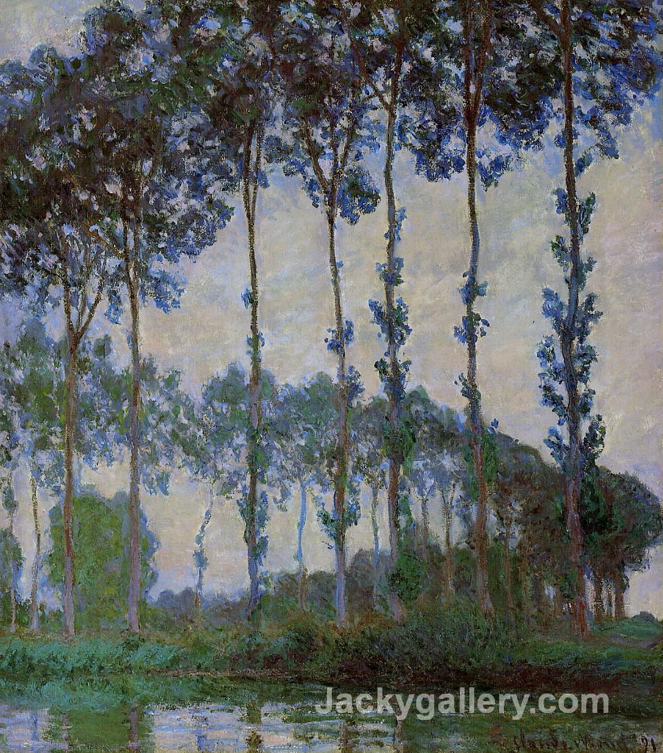 Poplars on the Banks of the River Epte, Overcast Weather by Claude Monet paintings reproduction