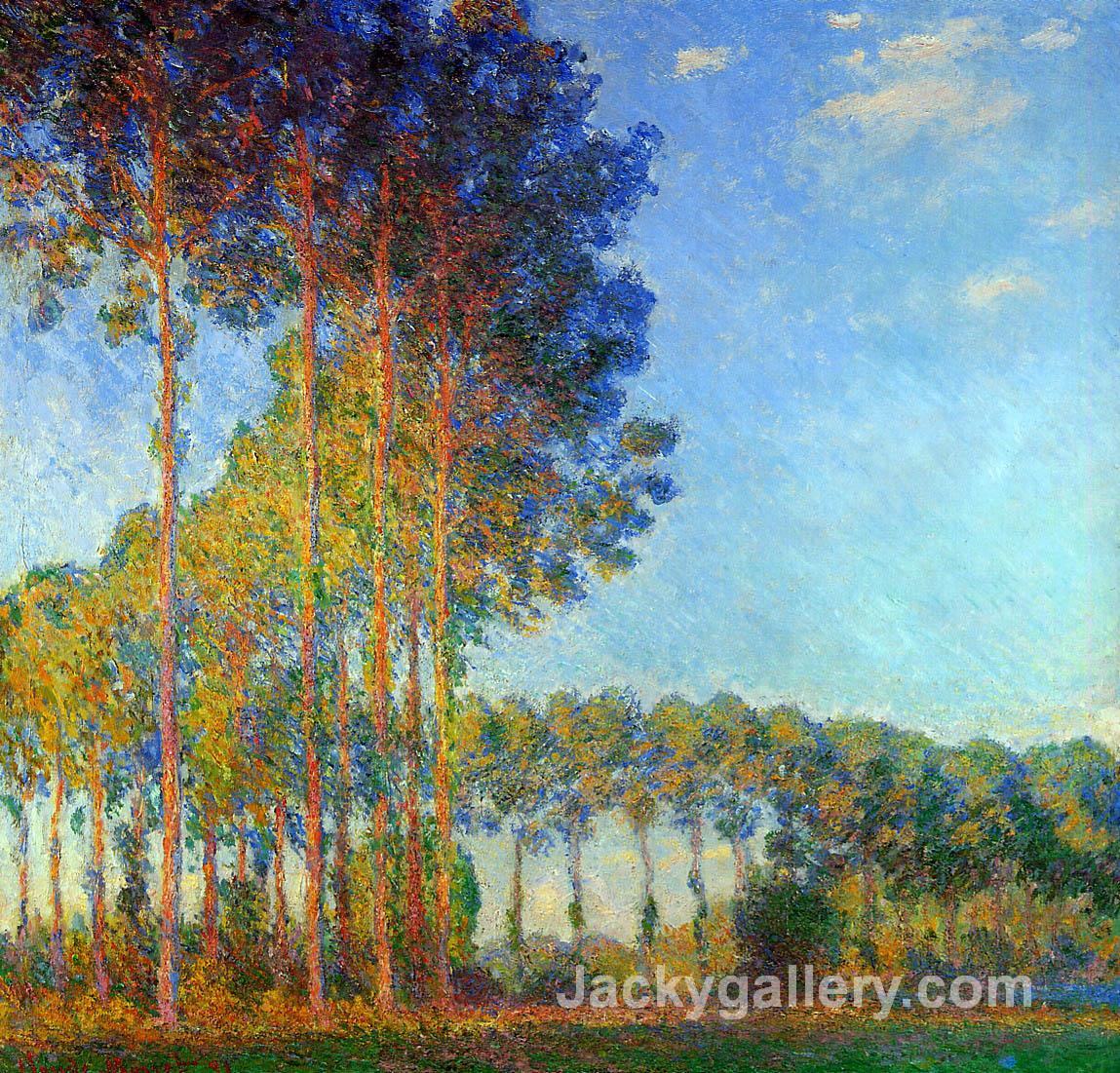 Poplars on the Banks of the River Epte, Seen from the Marsh by Claude Monet paintings reproduction