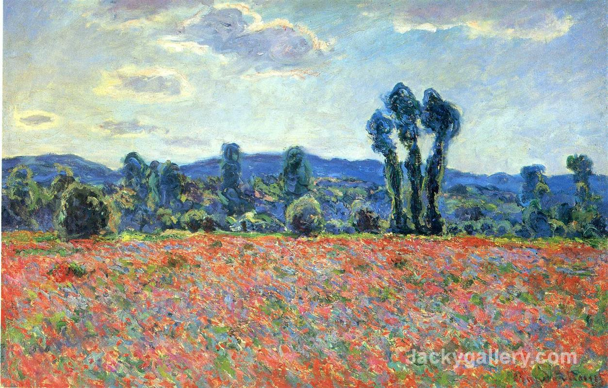 Poppy Field in Giverny by Claude Monet paintings reproduction