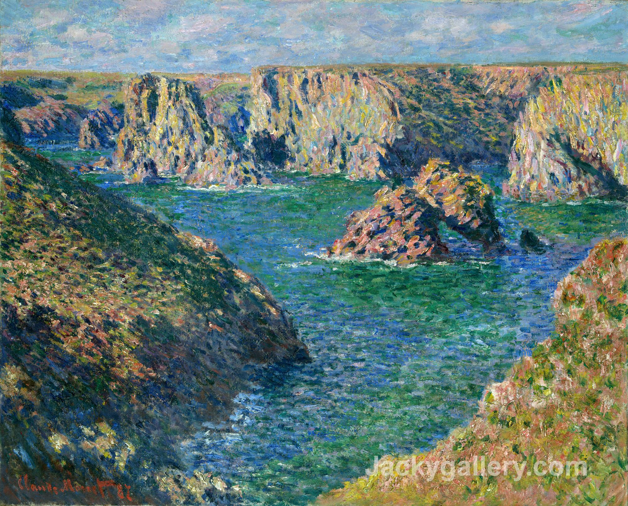 Port Donnant, Belle Ile by Claude Monet paintings reproduction