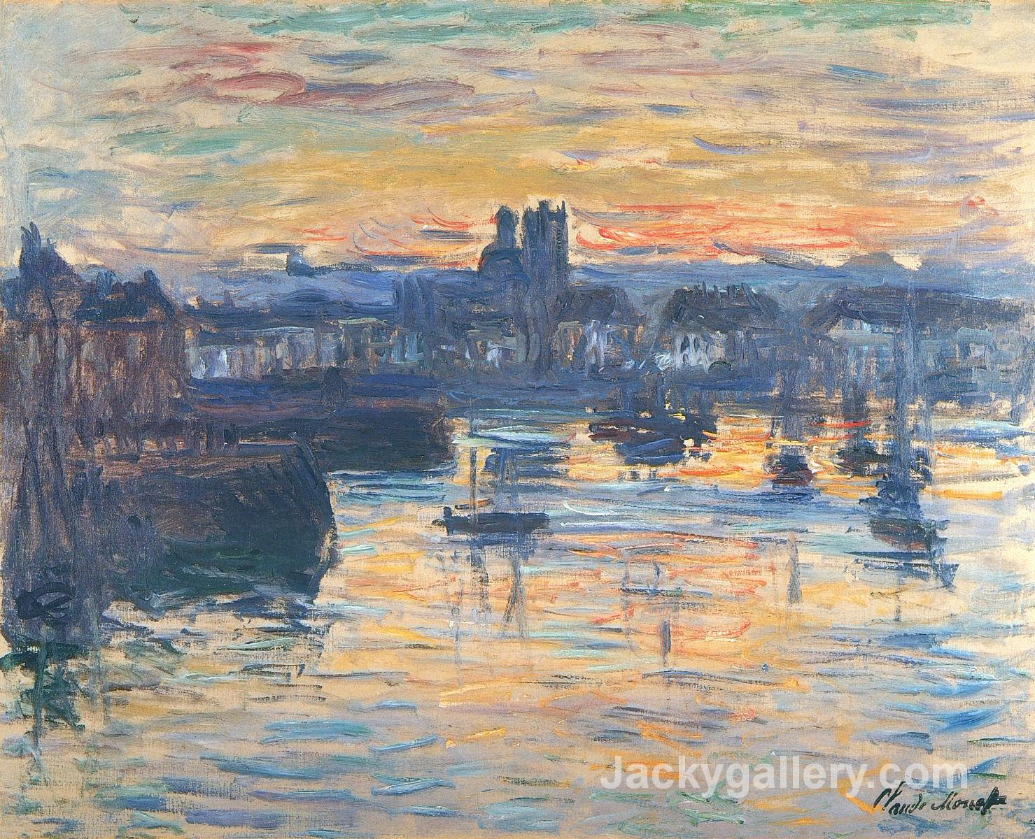 Port of Dieppe, Evening by Claude Monet paintings reproduction