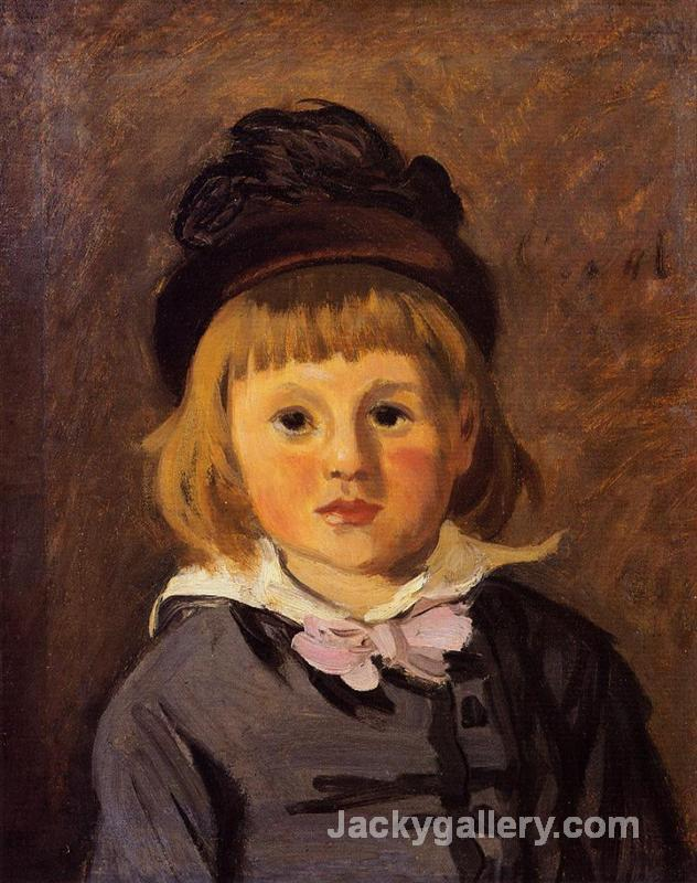 Portrait of Jean Monet Wearing a Hat with a Pompom by Claude Monet paintings reproduction