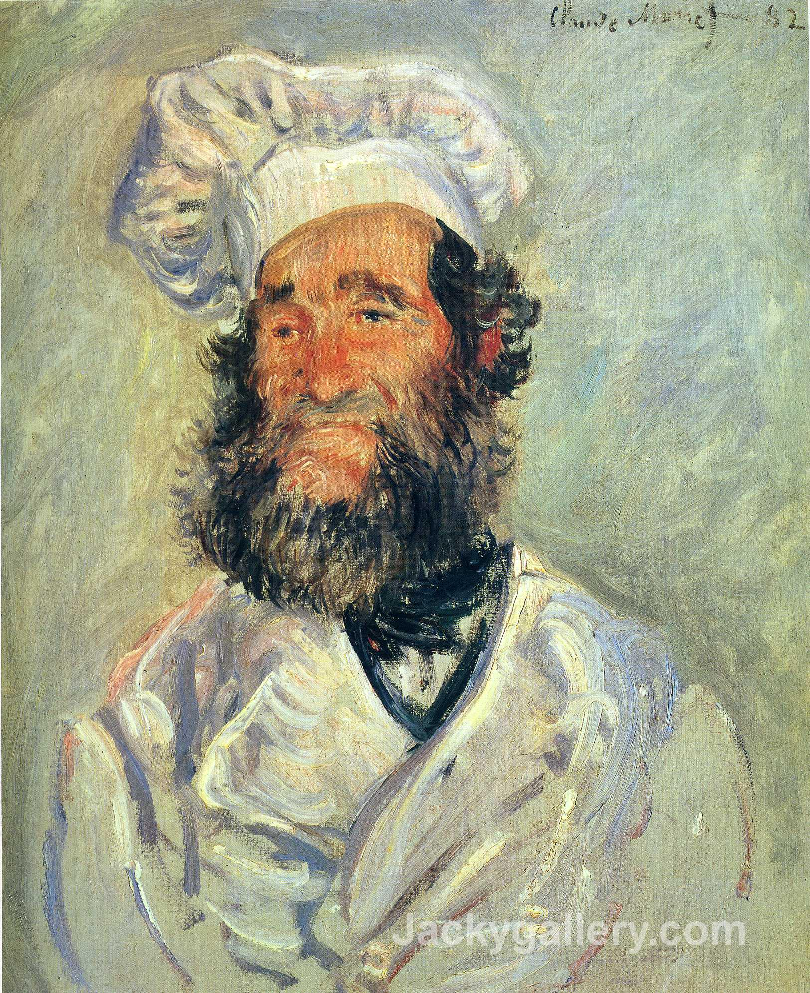 Portrait of Pere Paul by Claude Monet paintings reproduction
