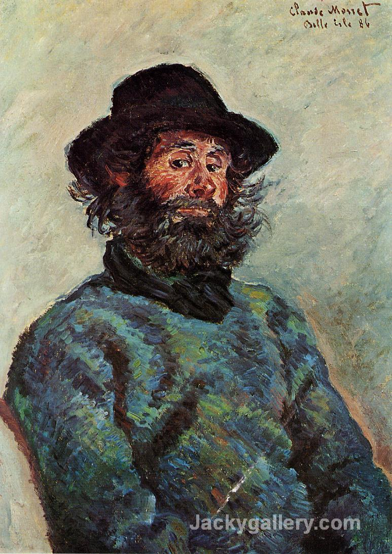 Portrait of Poly, fisherman at Kervillaouen by Claude Monet paintings reproduction