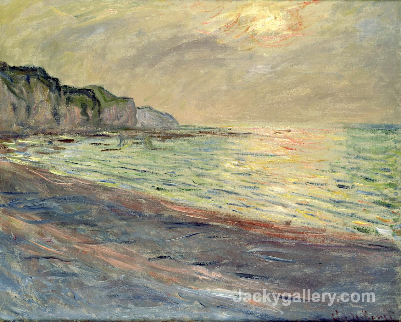 Pourville, Sunset by Claude Monet paintings reproduction