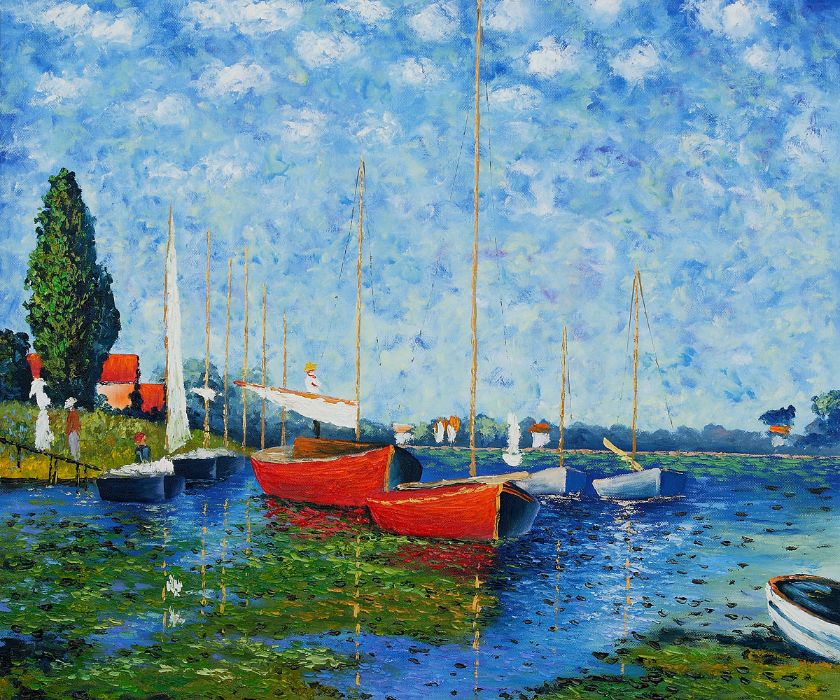 Red Boats at Argenteuil by Claude Monet