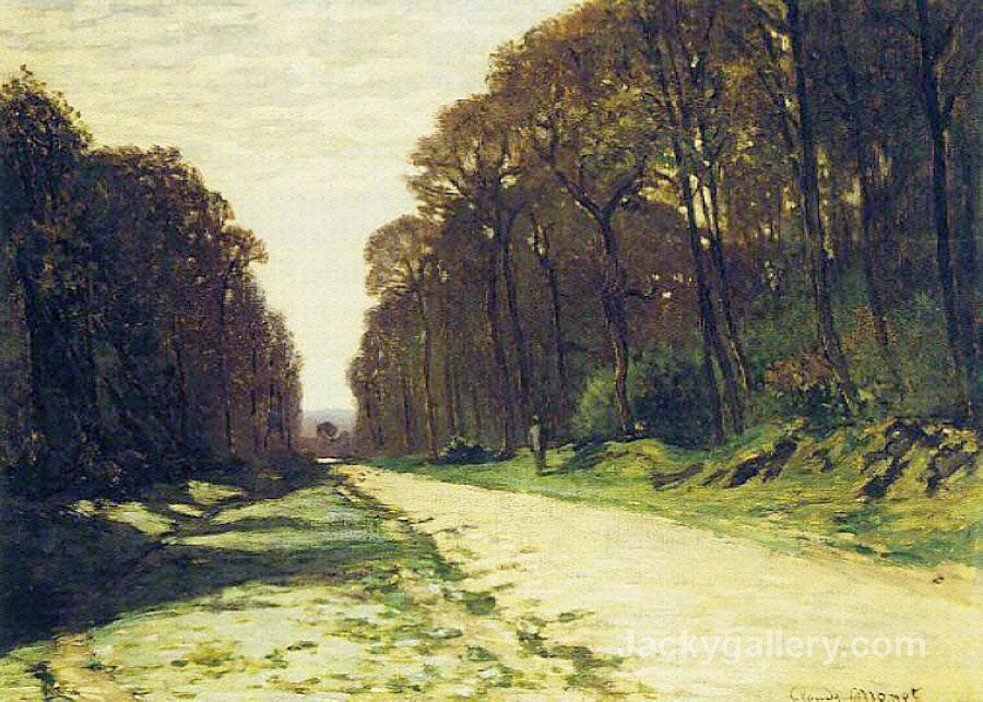 Road in a Forest Fontainebleau by Claude Monet paintings reproduction
