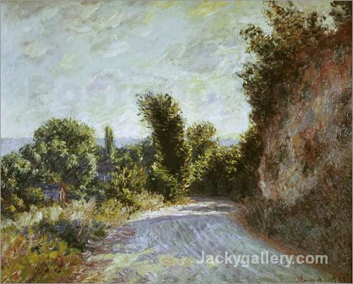 Road to Giverny by Claude Monet paintings reproduction