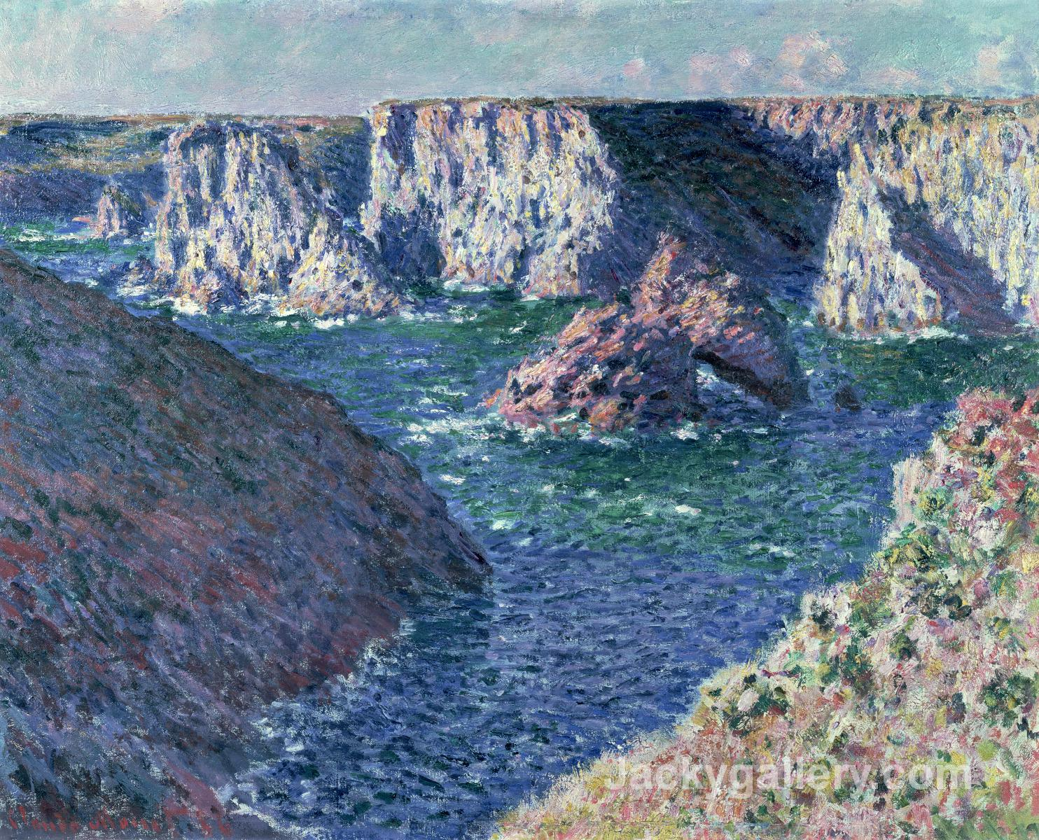 Rocks at Belle-Ile by Claude Monet paintings reproduction