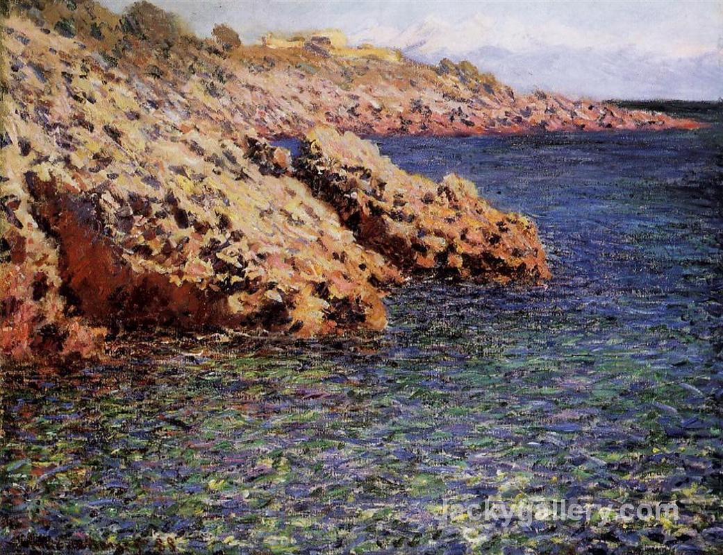 Rocks on the Mediterranean Coast by Claude Monet paintings reproduction