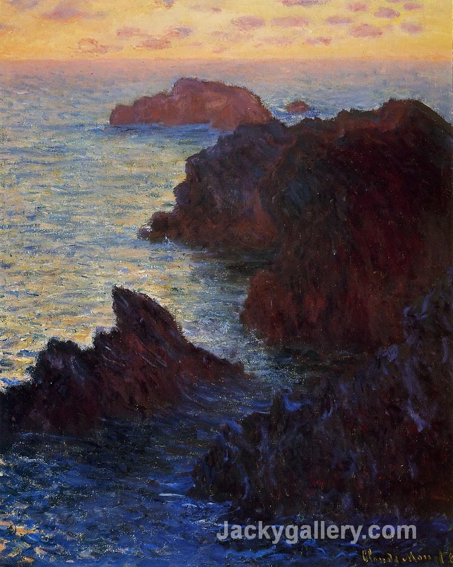 Rocky Point at Port-Goulphar by Claude Monet paintings reproduction